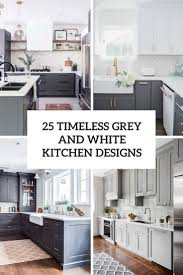 grey kitchen cabinets with white countertop 25 timeless grey and white kitchen designs digsdigs