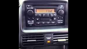 stereo reset code for 2006 honda cr v locked radio youtube