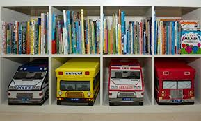 kid toy storage kid s fire truck collapsible toy storage organizer by clever