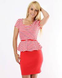 red peplum dress dressed up