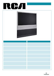 rca home theater tv rca flat panel television d56w20 user guide manualsonline com