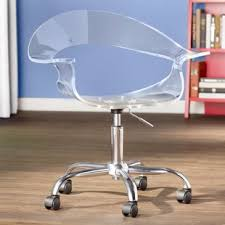 Clear Acrylic Ghost Desk Chair  Wayfair