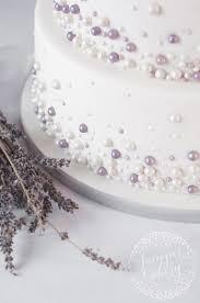bridal cakes modern pearl embellished wedding cake