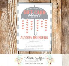 gift card shower invitation coral wedding shower invitations inovamarketing co