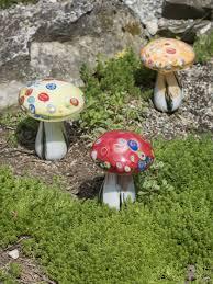 glass mushroom solar lights set of 3 gardener u0027s supply