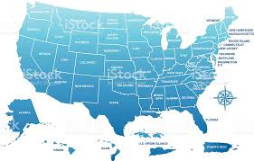 map of usa with compass usa map with its territories stock vector 165966331 istock