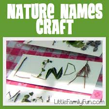 nature names craft what a great idea for a beginning of the year
