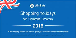 uk 2016 shopping holidays