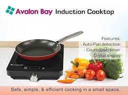 Compact Induction Cooktop Amazon Com Induction Cooktop By Avalon Bay 1800 Watts Portable