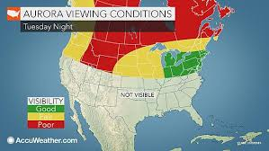 where are the northern lights located northern lights visible in ne midwest u s this week slashgear