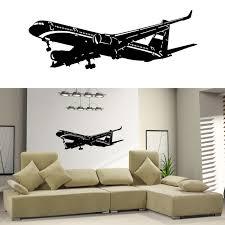 airplane home decor removable art home decor vinyl wall decal sticker plane air boing