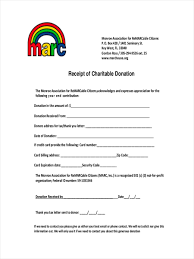 Charitable Contribution Receipt Template 9 Donation Receipts Examples Samples