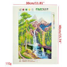 16x12 inches 5d diamond painting landscape scenery craft diy cross