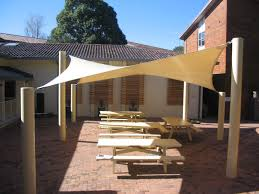 Build An Awning Over Patio by Exterior White Canvas Pool Shade With Relaxing Patio Chairs Decors
