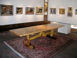 Southwest Dining Table Thirteen Trestle Plank Dining Conference Table C Jack Waller