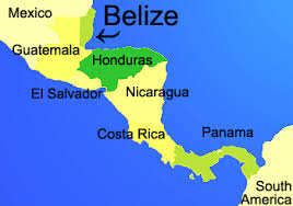 south america map belize about belize central america