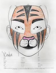 angrboda tiger makeup sketch u2014 weasyl