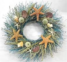 decorating seashell wreath for nautical wreaths ideas