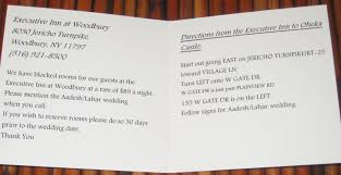 wedding invitation directions card wedding invitation direction