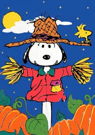 Snoopy Thanksgiving Snoopy Scarecrow Flag Snoopn4pnuts Com