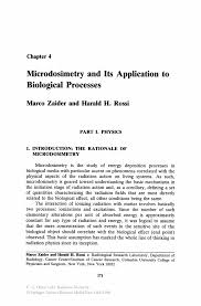 microdosimetry and its application to biological processes springer