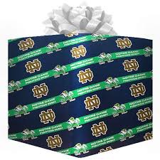 notre dame wrapping paper ncaa notre dame fighting logo gift wrap paper