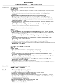 sle of resume construction project engineer resume sles velvet