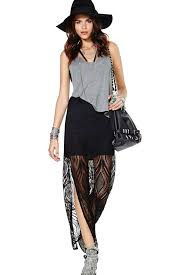 black maxi skirt with slit black lace slit side casual maxi skirt skirts maxi skirt pencil