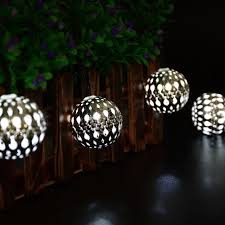 luckled 11ft 10 led fairy moroccan ball lights globe solar string
