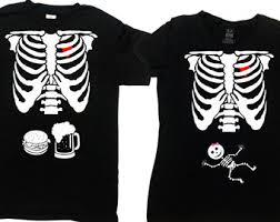 halloween pregnancy announcement shirt couples costume t shirts