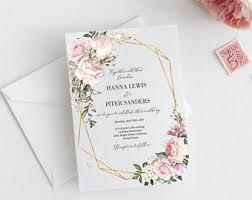 wedding invitation wedding invitation etsy