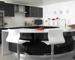 elegant kitchen with modern breakfast bar also minimalist kitchen