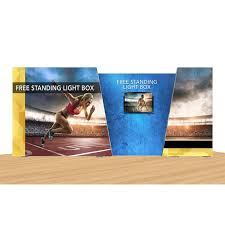 ignite free standing lightbox display for trade shows and exhibits