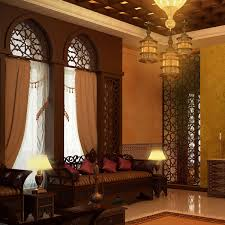 interior comfort interior living home with blue moroccan style