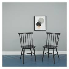 Kitchen Chairs by Talia Pair Of Black Dining Chairs Buy Now At Habitat Uk