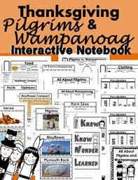 thanksgiving interactive notebook lapbook for any text common