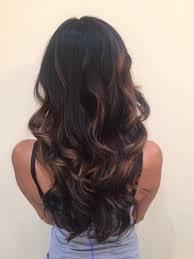 ig hairbynickyz dark hair black brown brunette balayage hand