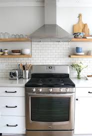 we u0027re loving the subway tile for the backsplash design in this