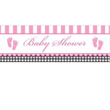 baby shower banner sweet baby girl baby shower banner
