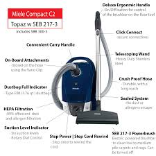 Miele Vacuum by Miele Compact C2 Topaz Canister Vacuum Cleaner