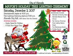 city of alameda mayor s tree lighting ceremony city of alameda