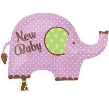 amazon com party destination new baby elephant foil balloon