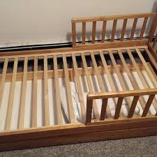 Toddler Beds On Sale Find More Wooden Toddler Bed With Half A Bed Rail On Both Sides