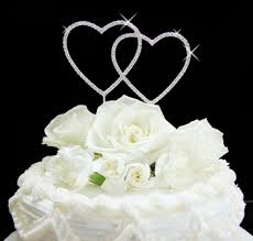 heart wedding cake toppers heart wedding or anniversary cake topper brideliness