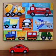 Car Nursery Decor Personalized Car Nursery Transportation Collage 11x14 Custom