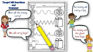 free preschool and early childhood halloween speech therapy activities