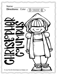 free christopher columbus fun printable coloring page in the