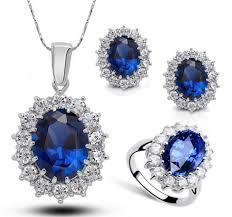 blue rings jewelry images Princess diana kate royal wedding ring blue sapphire gemstone jpg