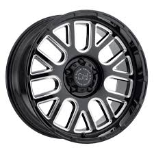 jeep wheels white black rhino pismo wheel in gloss black with milled spokes for 07