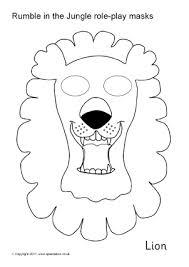 printable jungle and safari animal masks for kids sparklebox